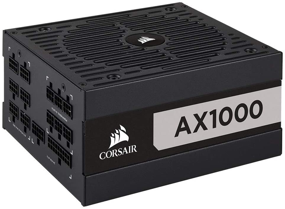 Corsair 1000W AX Series AX1000 PSU, Fluid Dynamic Fan, Fully Modular, 80+ Titanium Power Supply