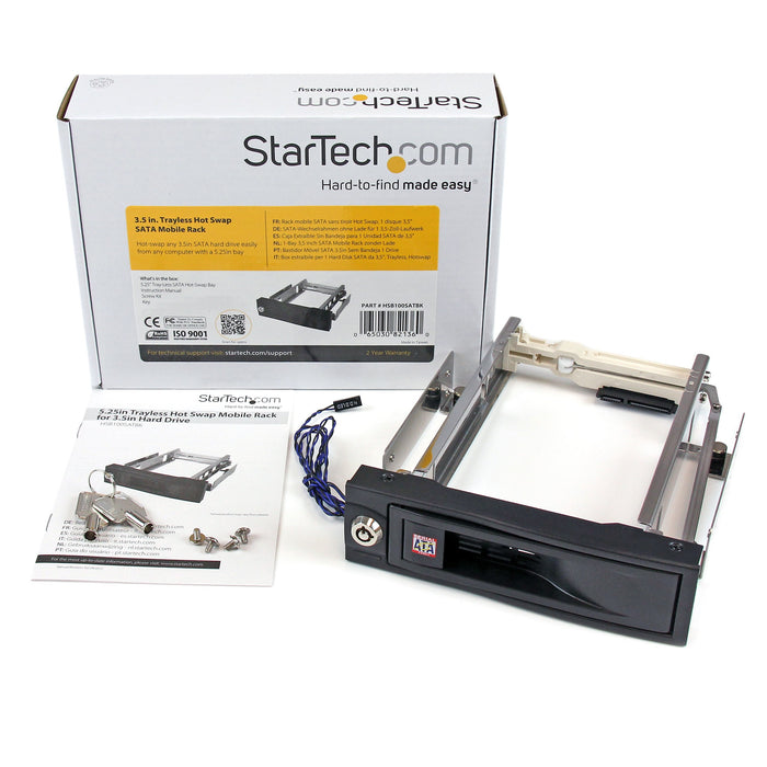 StarTech.Com 5.25in Trayless Hot Swap Mobile Rack For 3.5in