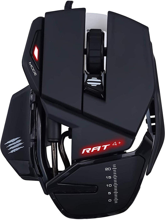 Mad Catz R.A.T. 4 + Gaming Mouse, PC/Mac, Built-in Storage Capability, 2 Ways