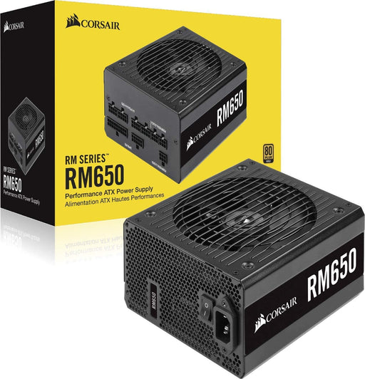 Corsair 650W RM Series RM650 PSU, Rifle Bearing Fan, Fully Modular, 80+ Gold
