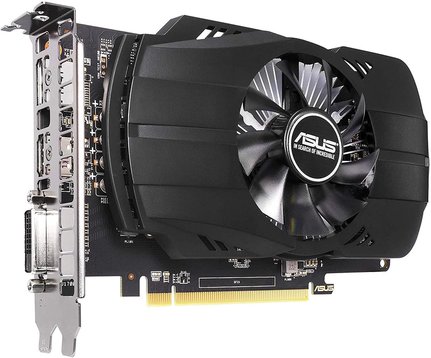 Asus Phoenix RX550 AMD Radeon Graphics Card, 4GB DDR5, PCIe3, DVI, HDMI, DP, 1183MHz Clock, Compact Design