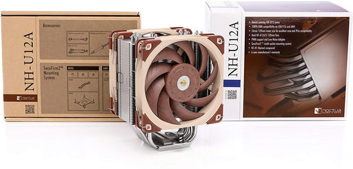 Noctua NH-U12A, Premium CPU Cooler with High-Performance Quiet NF-A12x25 PWM Fans (120mm, Brown)
