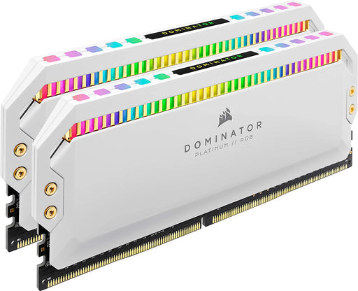 Corsair Dominator Platinum RGB 16GB (2x8GB) DDR4 3200MHz C16, RGB LED Desktop Memory (High Performance and Response Times) - White
