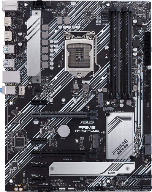 Asus PRIME H470-PLUS, Intel H470, 1200, ATX, 4 DDR4, XFire, HDMI, DP, RGB Lighting, M.2