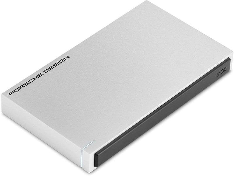 LaCie Porsche Design 1TB USB 3.0 Portable 2.5 inch External Hard Drive for PC and Mac - Light Grey