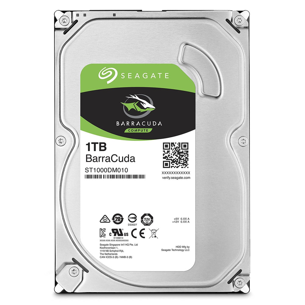 "Seagate BarraCuda ST1000DM010 1TB 64MB Cache SATA 6.0Gb/s 3.5"" Hard Drive"