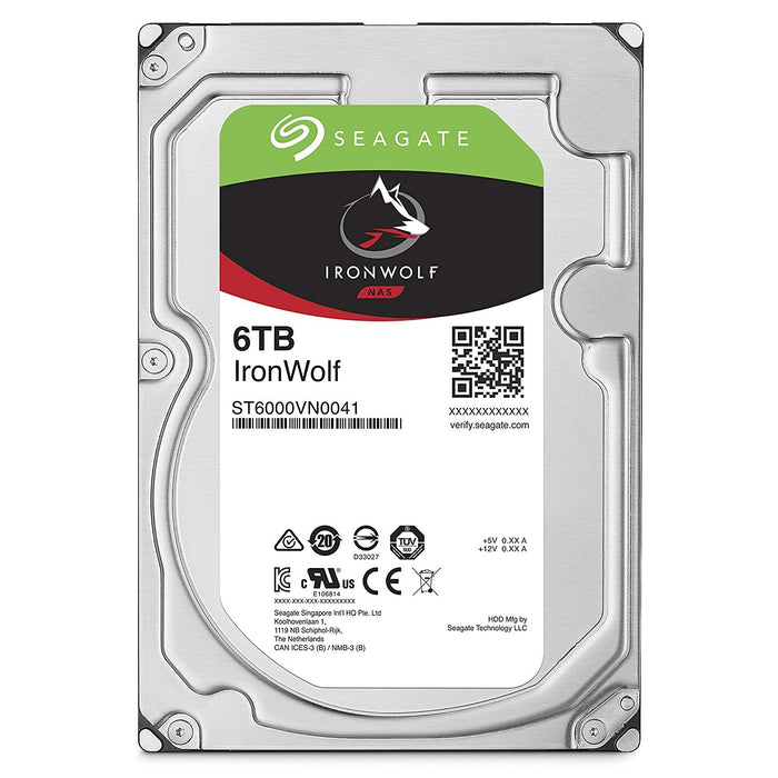 Seagate ST6000VN0041 IronWolf 6 TB 3.5 inch Internal Hard Drive