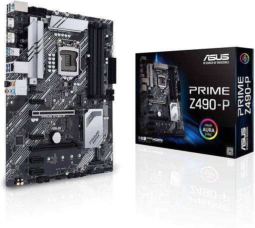 Asus PRIME Z490-P, Intel Z490, 1200, ATX, 4 DDR4, XFire, HDMI, DP, RGB Lighting, M.2