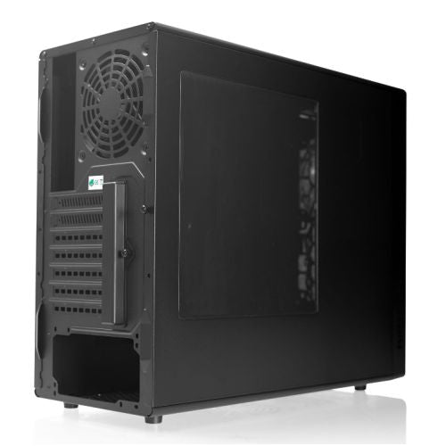 Riotoro CR488 Gaming Case with Window, ATX, No PSU, 2 x 12cm Fans (Red LED Front Fan), USB 3.0, Black & Red