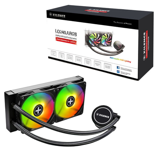 Xilence Performance A+ Series LiQuRizer LQ240 ARGB Universal Socket 240mm 1500RPM Addressable RGB LED AiO Liquid CPU Cooler