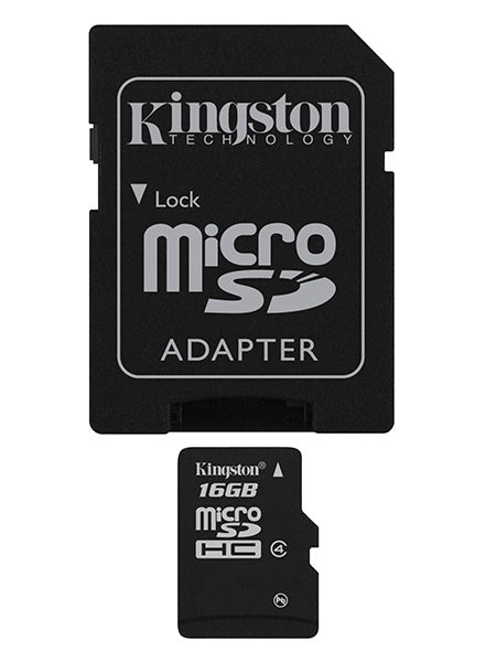 Kingston MicroSDHC Class 4 - 16GB Memory Card