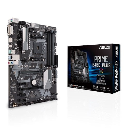 ASUS AMD Ryzen PRIME B450 PLUS AM4 ATX Motherboard