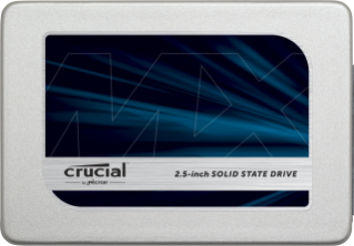 "Crucial 525 GB Internal SSD - 2.5"" - MX300 - SATA 6Gb/s Hard Drive"