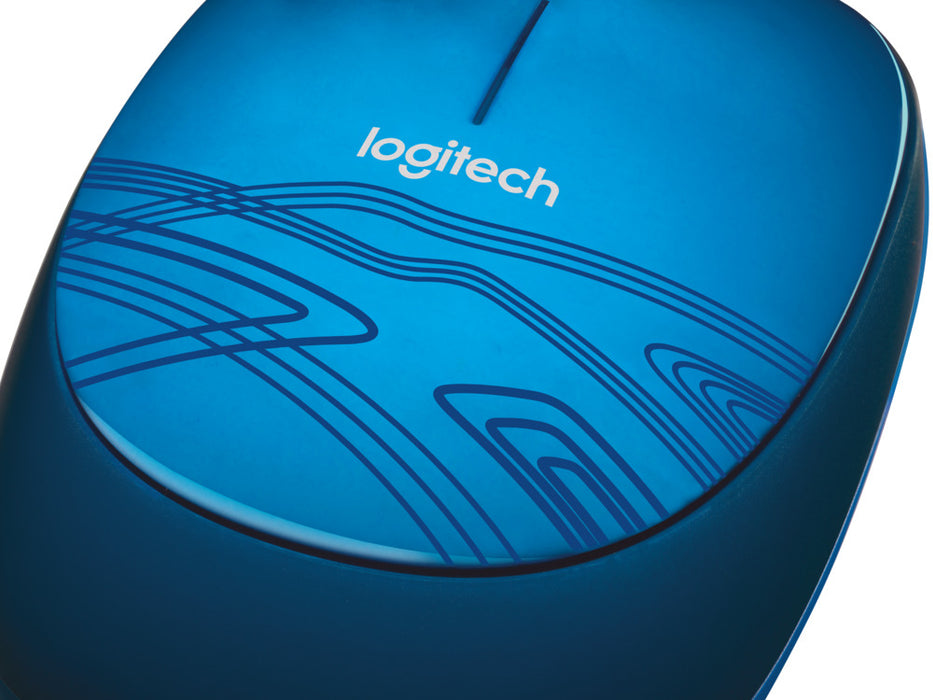 Logitech Mouse M105 Corded, Blue