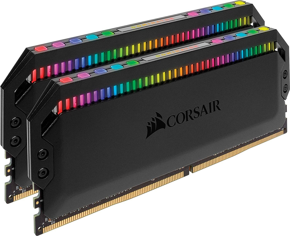 Corsair Dominator Platinum RGB 16 GB (2 x 8 GB) DDR4 3000 MHz C15, Enthusiast RGB LED Illuminated Memory Kit - Black
