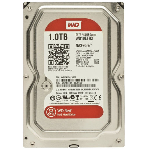 "Western Digital Red WD10EFRX 1TB IntelliPower 64MB Cache 3.5"" SATA 6Gb/s Hard Drive"