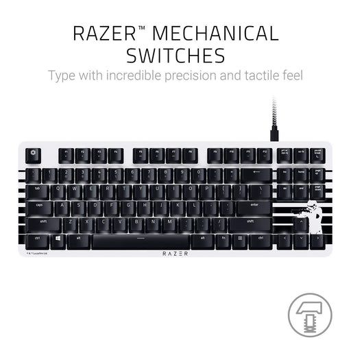 Razer BlackWidow Star Wars STORMTROOPER Edition, Silent and Tactile Gaming Keyboard, Razer Orange Switches