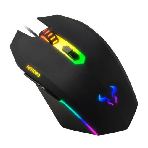 Riotoro URUZ Z5 Classic Wired Optical RGB Gaming Mouse, 4000 DPI, 6 Programmable Buttons