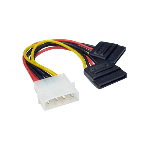 Molex to Two SATA Power Splitter Cable