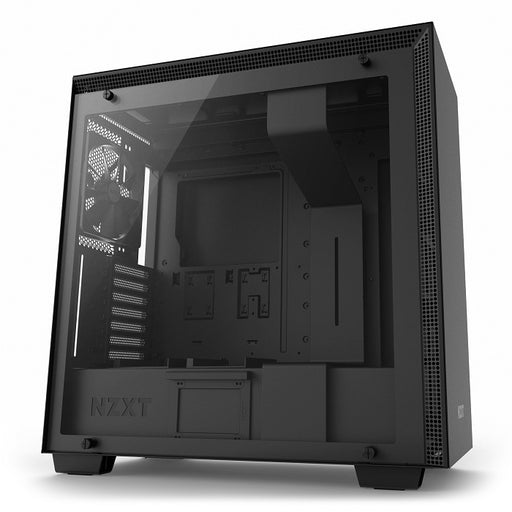 NZXT H700 Matte Black Mid Tower Case Tempered Glass Window