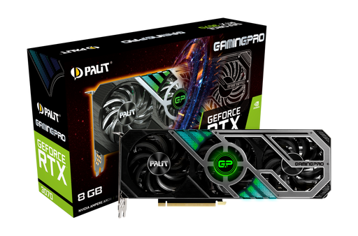 Palit GeForce RTX 3070 GamingPro nVidia Graphics Card 8GB, 256bit Memory, GDDR6, HDMI 2.1, ARGB Lighting, NE63070019P2-1041A, GPU