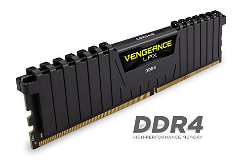 Corsair Vengeance LPX 16 GB (2 x 8 GB) DDR4 3200 MHz C16 XMP 2.0 High Performance Desktop Memory Kit, Black
