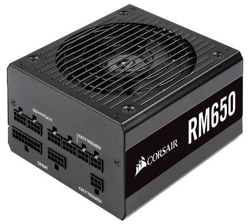 Corsair RM650, RM Series, 80 Plus Gold Certified, 650 W Fully Modular ATX Power Supply - Black