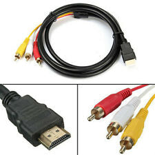 Premium 1.5M HDMI Male to 3x RCA Video Audio Converter Component AV Adapter Cable
