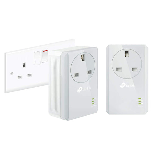 TP-Link TL-PA4010PKIT Passthrough Powerline Adapter Starter Kit, No Configuration Required, UK Plug, Pack of 2