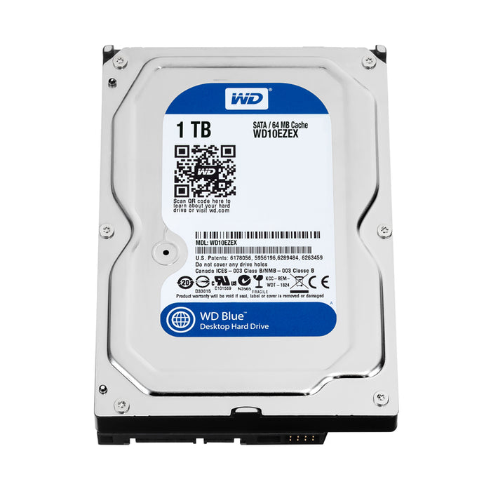"Western Digital Blue WD10EZEX 1TB 7200 RPM 64MB Cache 3.5"" SATA 6Gb/s Hard Drive"