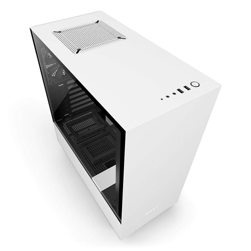 NZXT H500 – Compact ATX Mid-Tower PC Gaming Case – Tempered Glass Panel – Water-Cooling Ready - White/Black - 2018 Version