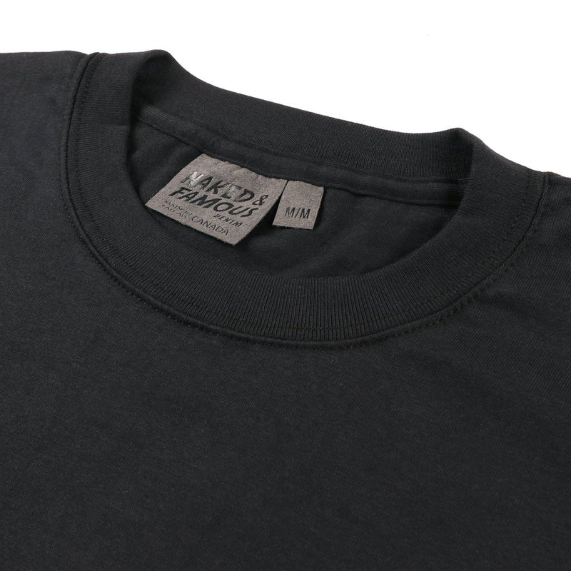 Circular Knit Tee Shirt - Black - JL+KO