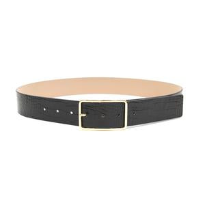 Milla Croco Black/Gold Belt