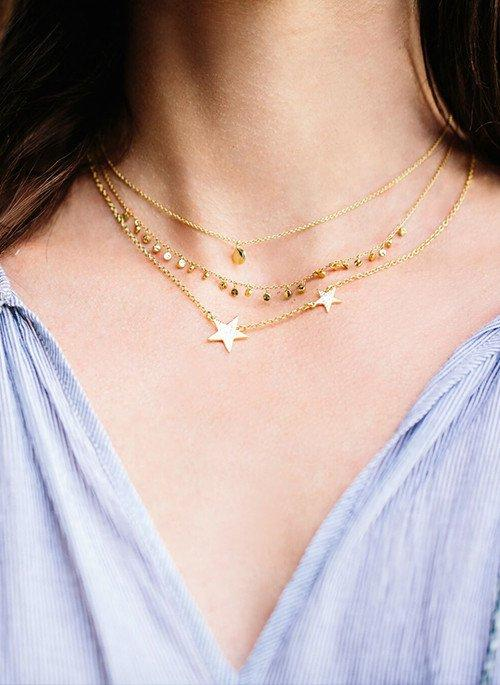 Chloe Charm Adjustable Necklace - Gold - JL+KO