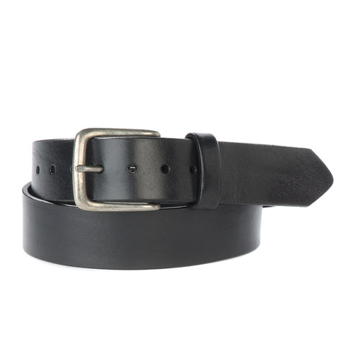 Duccio - Black Leather + Silver Buckle