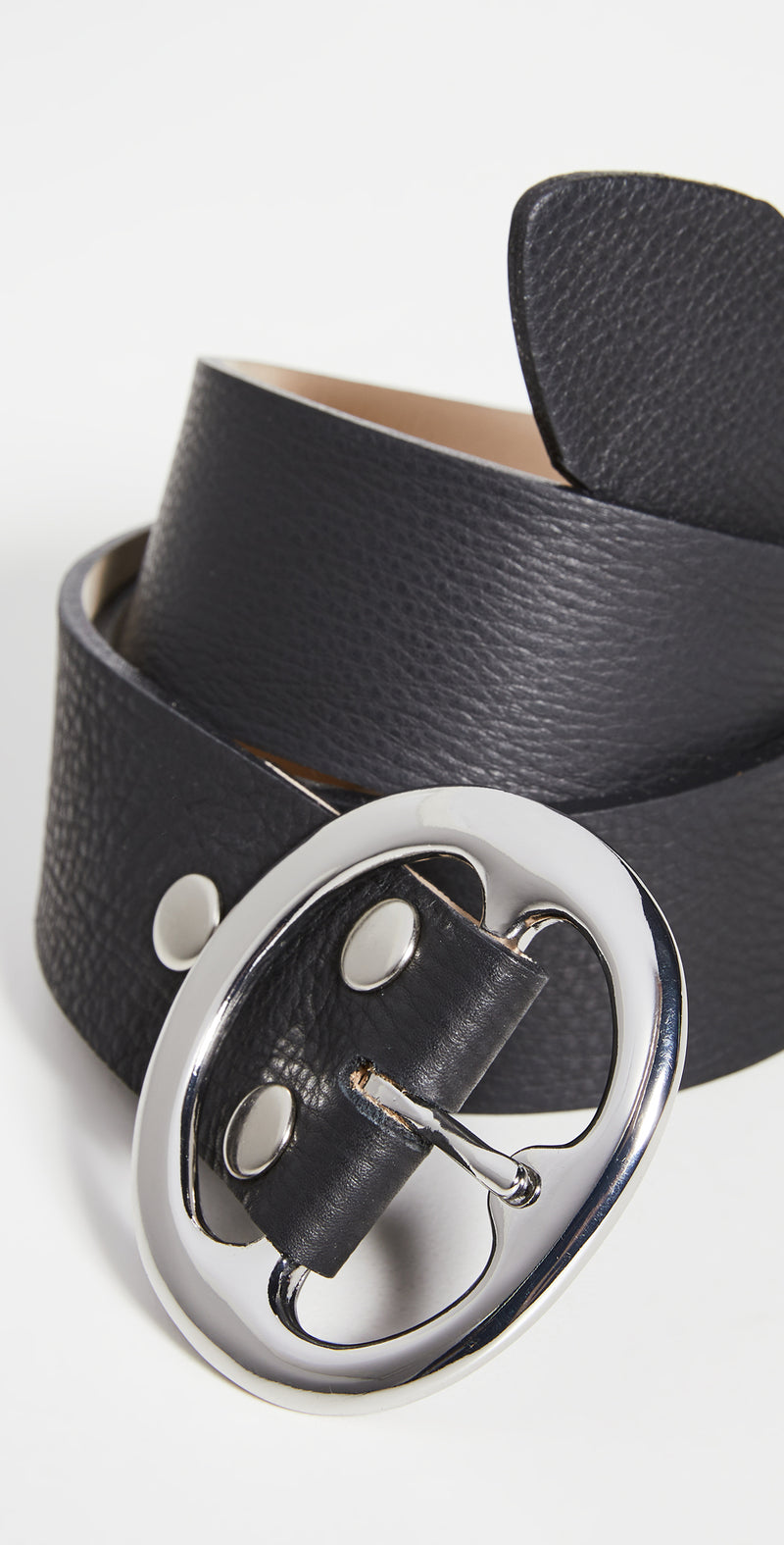 Bell Bottom Smooth - Black + Silver Buckle - JL+KO