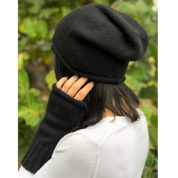 Essential Alpaca Gloves - Black - JL+KO