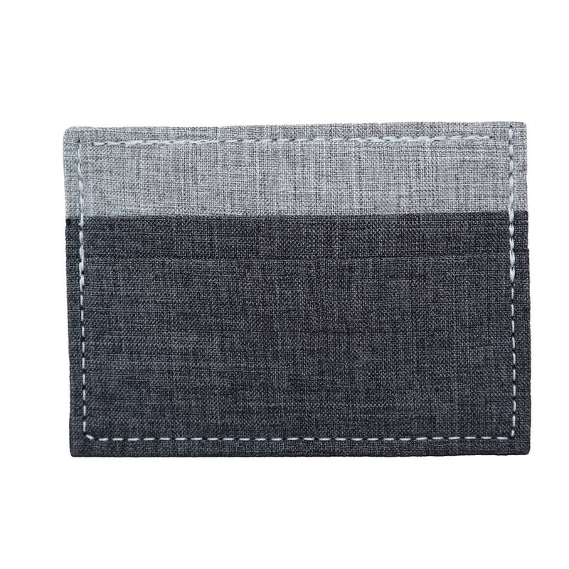Heather Grey/Black Card + Cash Holder Wallet
