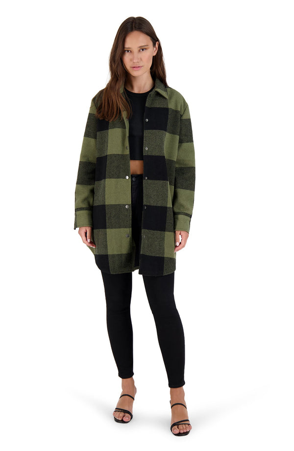 Eldridge Plaid Coat - Sage - JL+KO