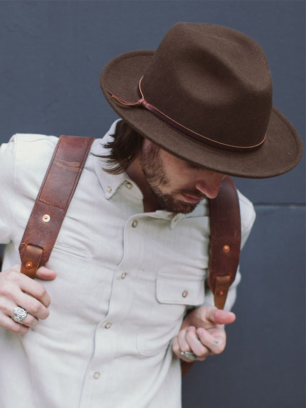 Luke Fedora - Brown - Unisex