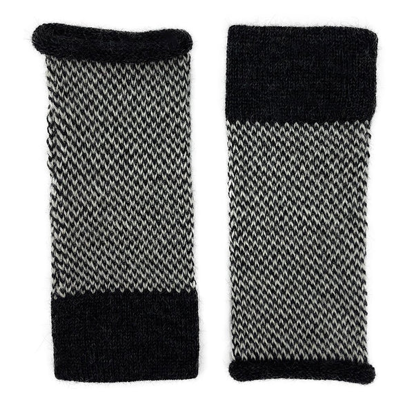 Midnight Interwoven Alpaca Gloves