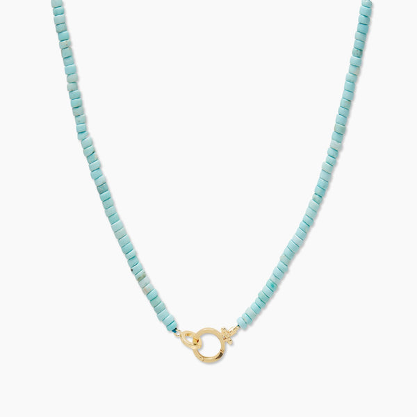 Parker Gem Necklace - Turquoise - JL+KO