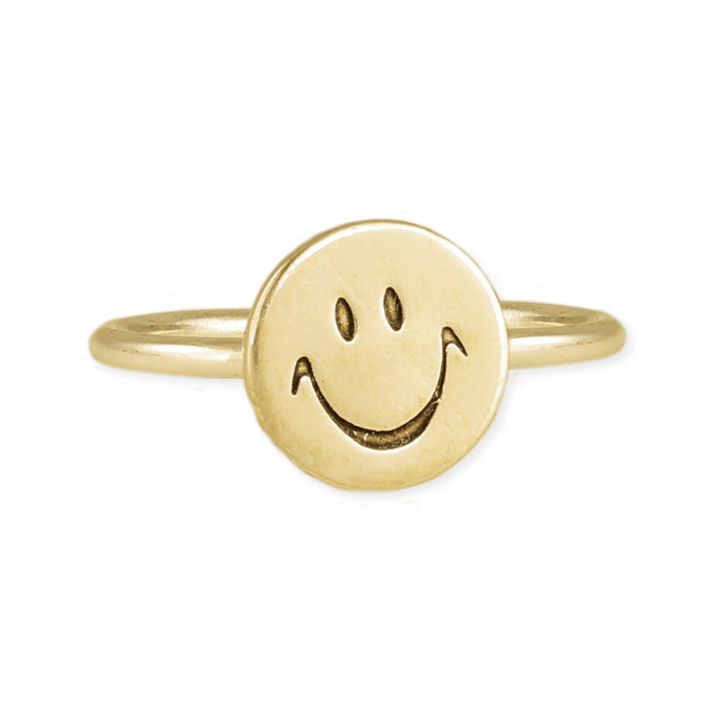 Happy Face - Gold Ring - JL+KO