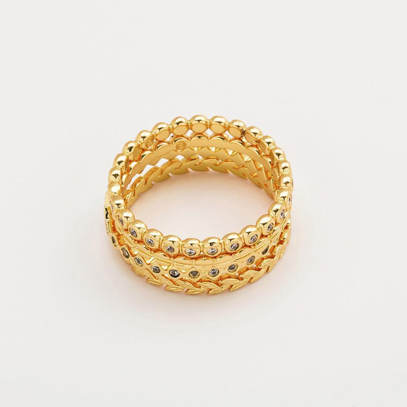 Mini Stackable Ring Set - Gold
