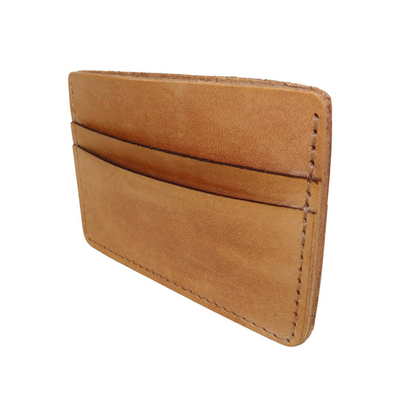 Tan Leather Card + Cash Holder - JL+KO