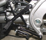 Woodcraft Ninja 650R '09-11 Rearset Kit Black w/Shift Pedal: Kawasaki