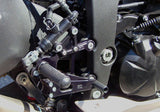 Woodcraft ZX6R '09-12 Rearset Kit w/Brake Pedal Black: Kawasaki - Tacticalmindz.com