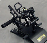 Woodcraft CBR600RR '07+ Complete Rearset Kit W/Pedals Black: Honda