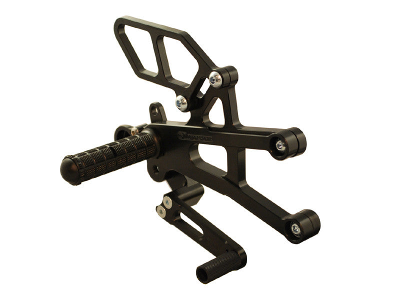 Woodcraft Daytona 675R Complete Rearset Kit GP Shift W/Shift & Brake Pedals Black: Triumph