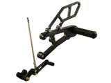 Woodcraft Daytona 675 Complete Rearset Kit GP Shift W/Shift & Brake Pedals Black: Triumph - Tacticalmindz.com